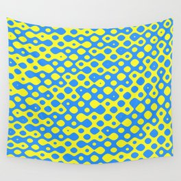 Brain Coral Blue Small Polyps - Coral Reef Series 026 Wall Tapestry