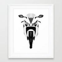 honda Framed Art Prints featuring Honda Motorcycle by SABIRO DESIGN
