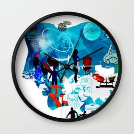 Collage of transplants Wall Clock