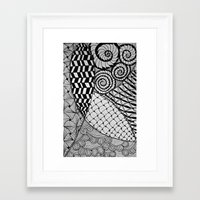 zentangle Framed Art Prints featuring Zentangle by kinseymichelle