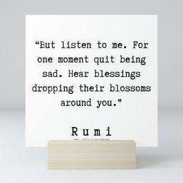 40  | Rumi Quotes  | 190921 Mini Art Print