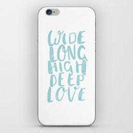 LOVE inifinite - BLUE iPhone Skin