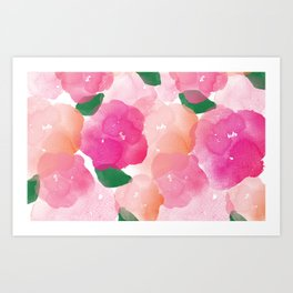 Flower bed Art Print