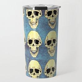 Skulls at the party - teal Travel Mug
