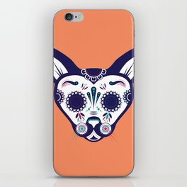Day of the Dead Cat iPhone Skin