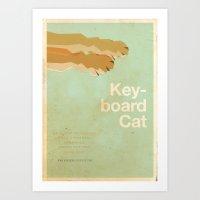 movie posters Art Prints featuring Keyboard Cat - Meme Movie Posters by Stefan van Zoggel