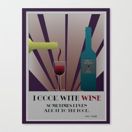Cook with Wine Canvas Print