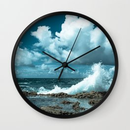 Wave of Blue Wall Clock