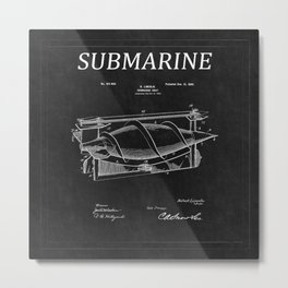 Submarine Patent 4 Metal Print