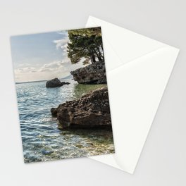 Seaside of Riviera Makarska in Croatia Stationery Cards