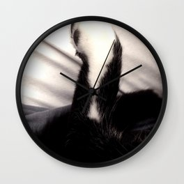 Black and white Cat Paw Wall Clock