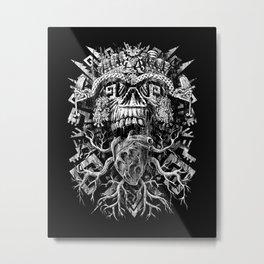 Aztec Skull Metal Print