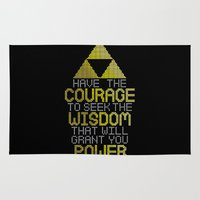 triforce Area & Throw Rugs featuring Triforce Motivational by JesseThomas