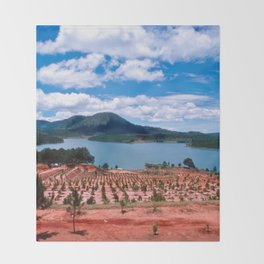 Magic Lake of Central Highland in Vietnam Throw Blanket