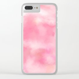 Cloudy Coral Painting Clear iPhone Case