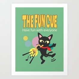 The fun cue Art Print
