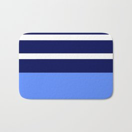 Summer Patio Perfect, Blue, White & Navy Bath Mat