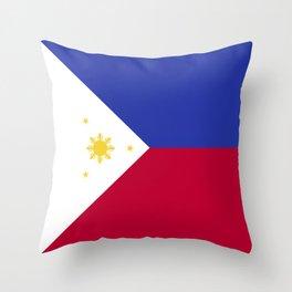 Philippines flag emblem Throw Pillow