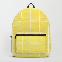 Yellow Squares and Dots Backpack