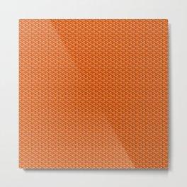 Goyard Pattern Orange Metal Print