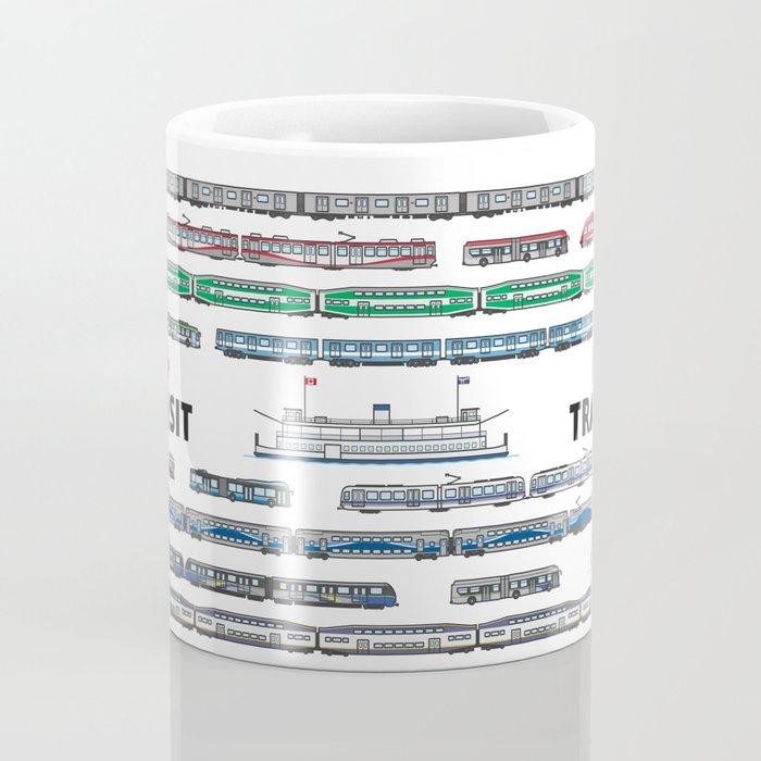 I Love Canadian Transit Coffee Mug