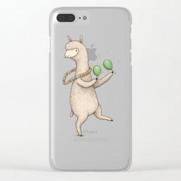 Alpaca on Maracas Clear iPhone Case