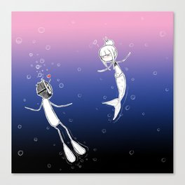 underwater love Canvas Print