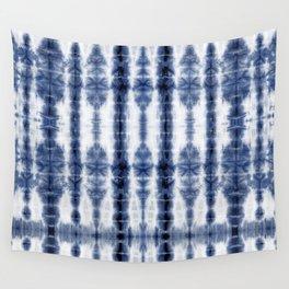 Tiki Shibori Blue Wall Tapestry