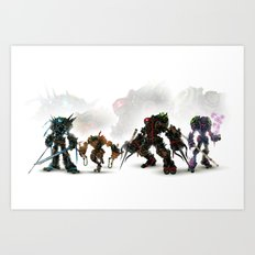 Turtle Tech Art Print