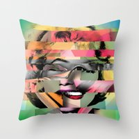 marilyn Throw Pillows featuring Marilyn by mark ashkenazi