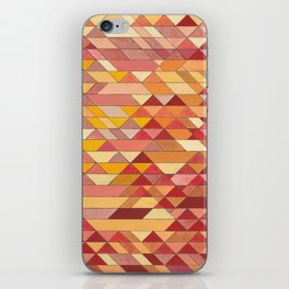 Triangle Pattern no.4 Warm Colors Red and Yellow iPhone Skin