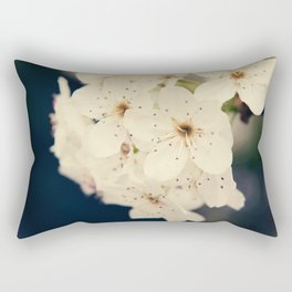 Bradford Pear Tree Flowers Rectangular Pillow