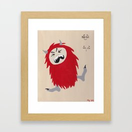 Little Monsters - Bad Monster Framed Art Print