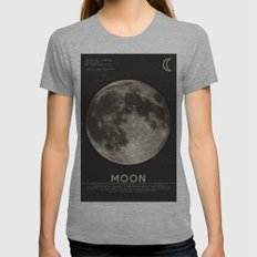 The Moon Tri-Grey Womens Fitted Tee X-LARGE