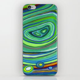 Vibrant Pastel on Suede Tree Ring Abstract by annmariescreations iPhone Skin