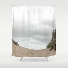 Sand_Beach_grasses_Sky Shower Curtain