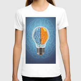 Left and Right Brain, how an idea originated, whether from the left or right brain T-shirt