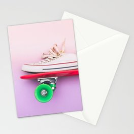 skateboard and sniker Stationery Cards