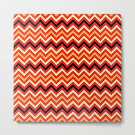 Fire Chevron Metal Print