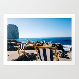 Life on Capri Art Print