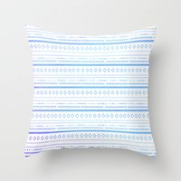 bohemian Throw Pillows featuring bohemian by studiomarshallarts