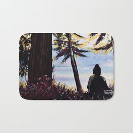 Sitting (View on Pender Island) Bath Mat
