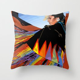 Shawl Dancer Throw Pillow