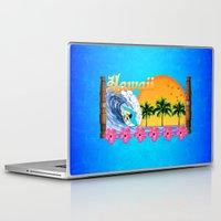 hawaiian Laptop & iPad Skins featuring Hawaiian Surfing by MacDonald Creative Studios
