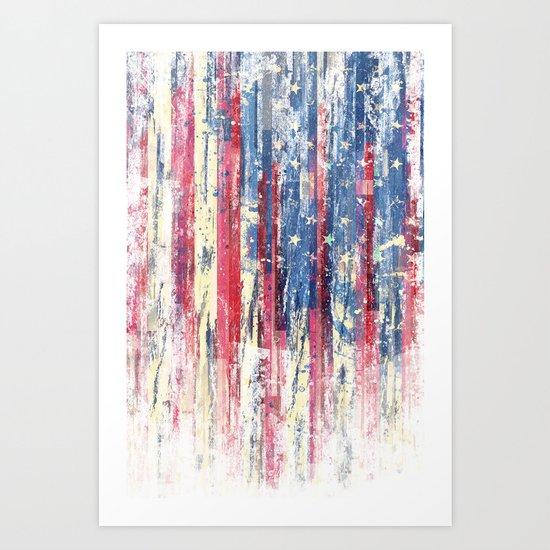 Amerikka Distress Art Print