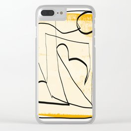 Abstract line art 4 Clear iPhone Case