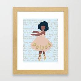 Poised Ballerina Framed Art Print