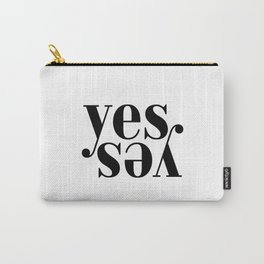 Yes Print Art Print Huge Large Wall Art Lettering Horizontal Prints Poster Art Inspirational Motivat Carry-All Pouch