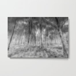 Monochrome Forest Art Metal Print