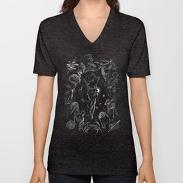 XXI. The World Tarot Card Illustration Unisex V-Neck